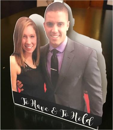 Custom Wedding Tabletop Cutouts - Custom Table Tents