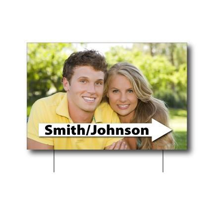 "12""x18"" Directional Wedding Signs"