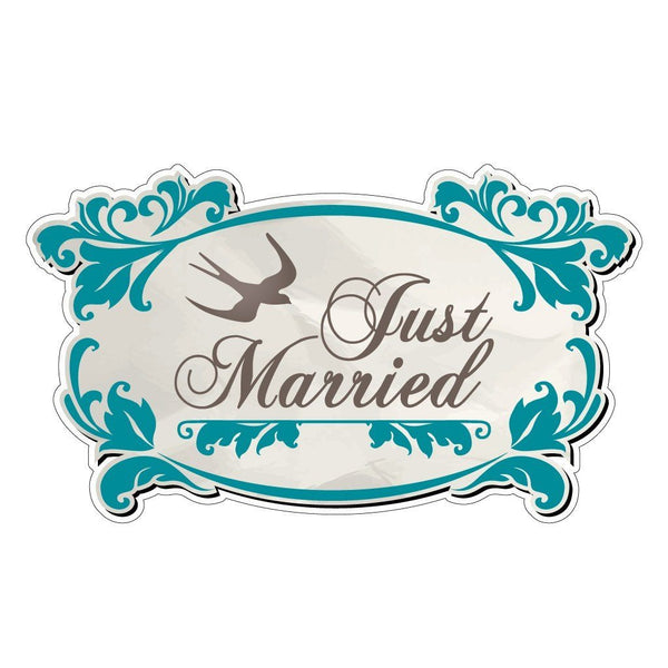 A just married sign