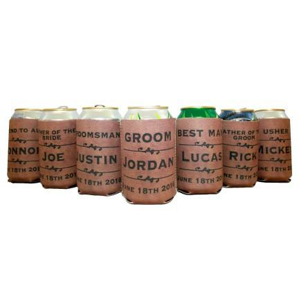 Personalized Wedding Can Cooler - FREE SHIPPING