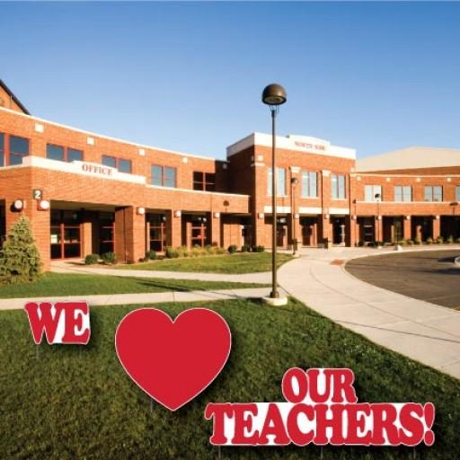 We heart our teachers yard decoration package