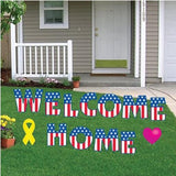 Welcome home yard sign decorations