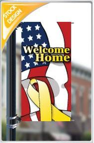 "18""x36"" Welcome Home Pole Banner FREE SHIPPING"