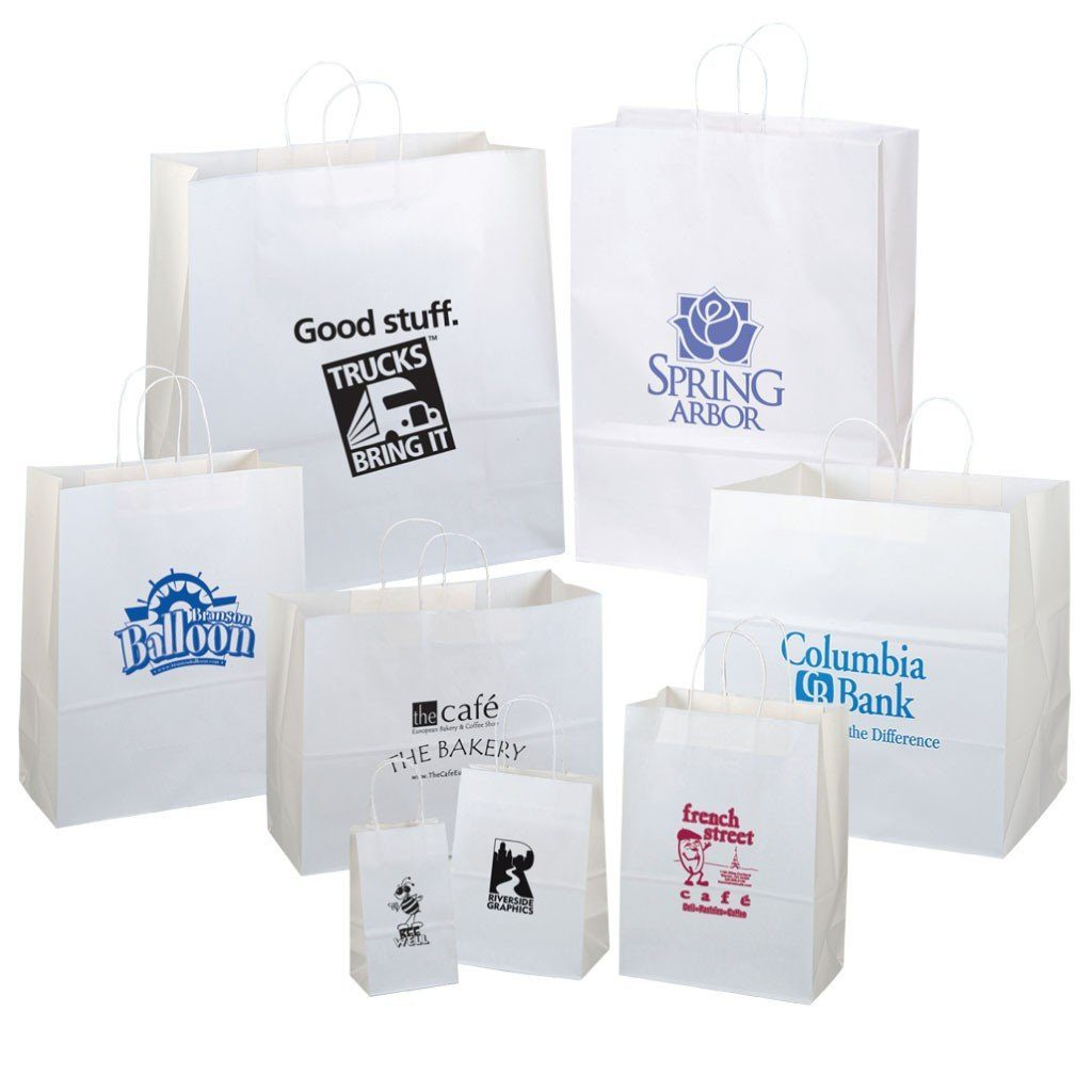 Several different bag sizes with custom logos
