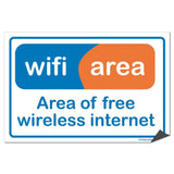 A free wifi sticker
