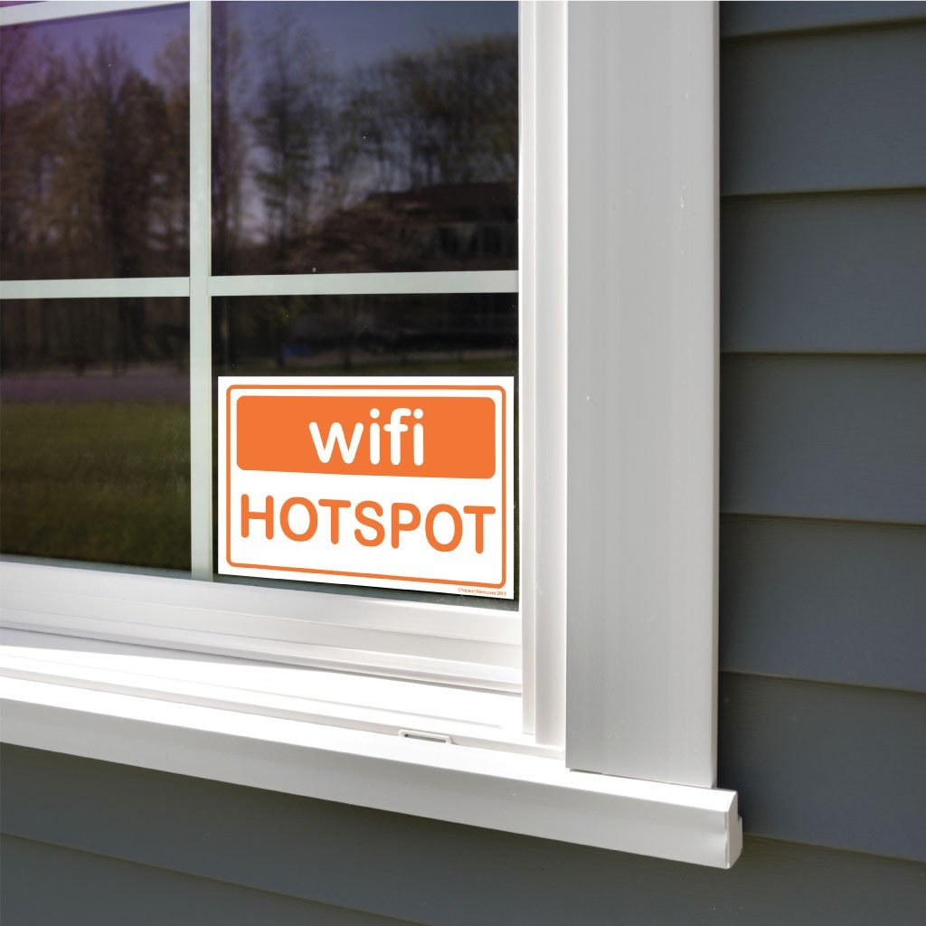 Wifi Hotspot Sign or Sticker - #7