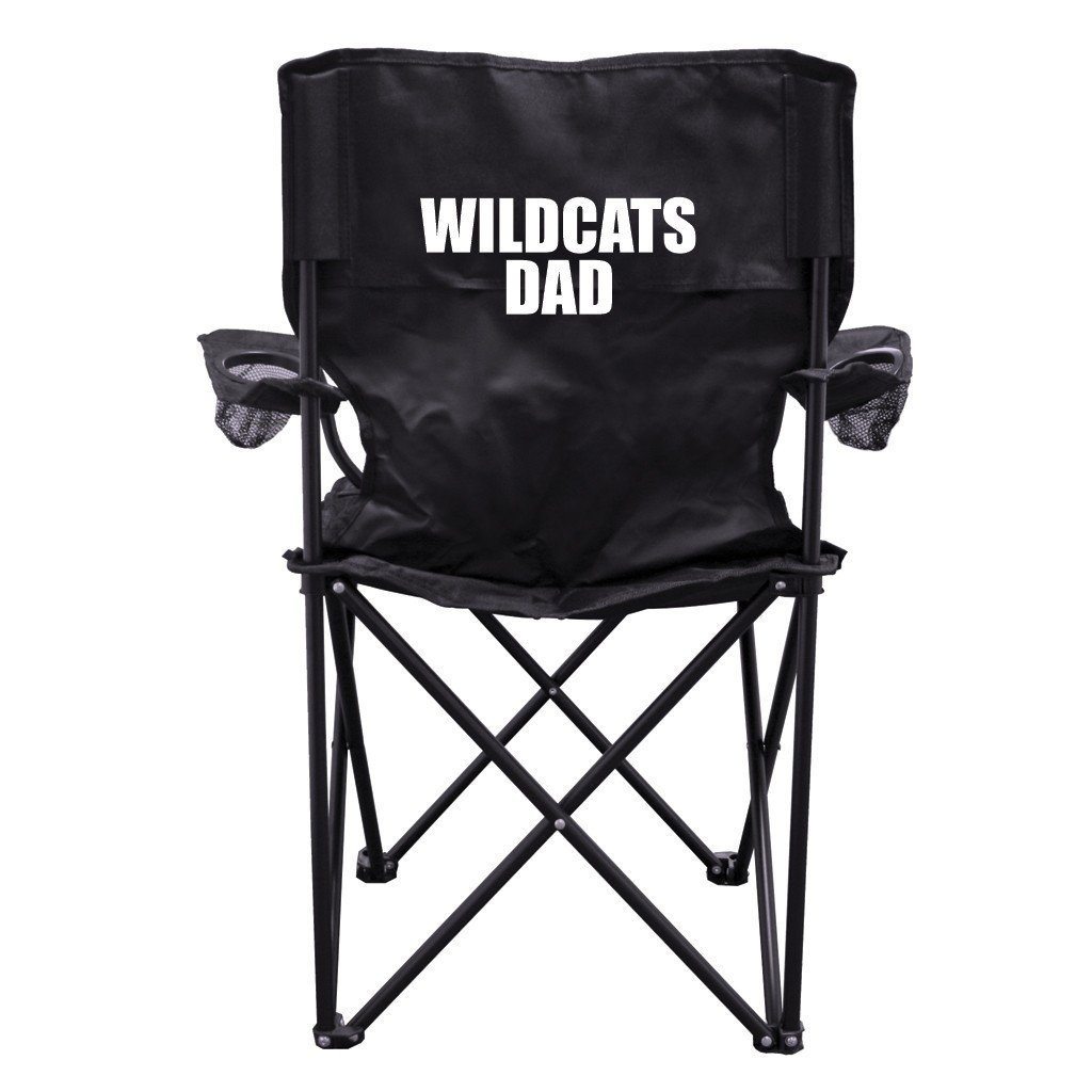 Wildcats Dad Black Folding Camping Chair with Carry Bag