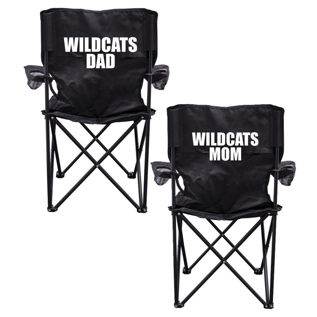 Wildcats Parents 2 Black Folding Camping Chair Set of 2 with Carry