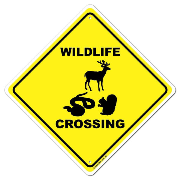 Wildlife Crossing Sign or Sticker