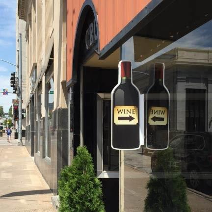 Wine Bottle 3D Window Sign