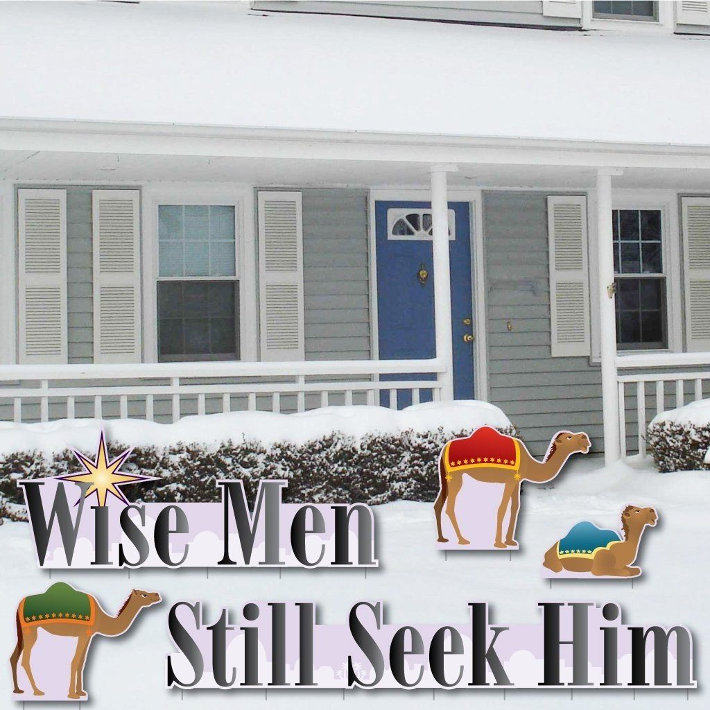 Wise Men Still Seek Him Yard Decorations - FREE SHIPPING