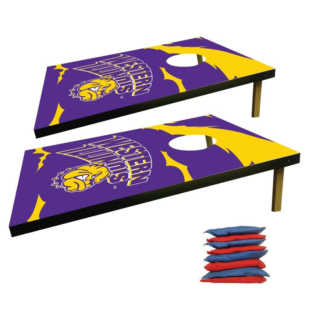 Western Illinois Cornhole Bag Toss Game (Design 1)