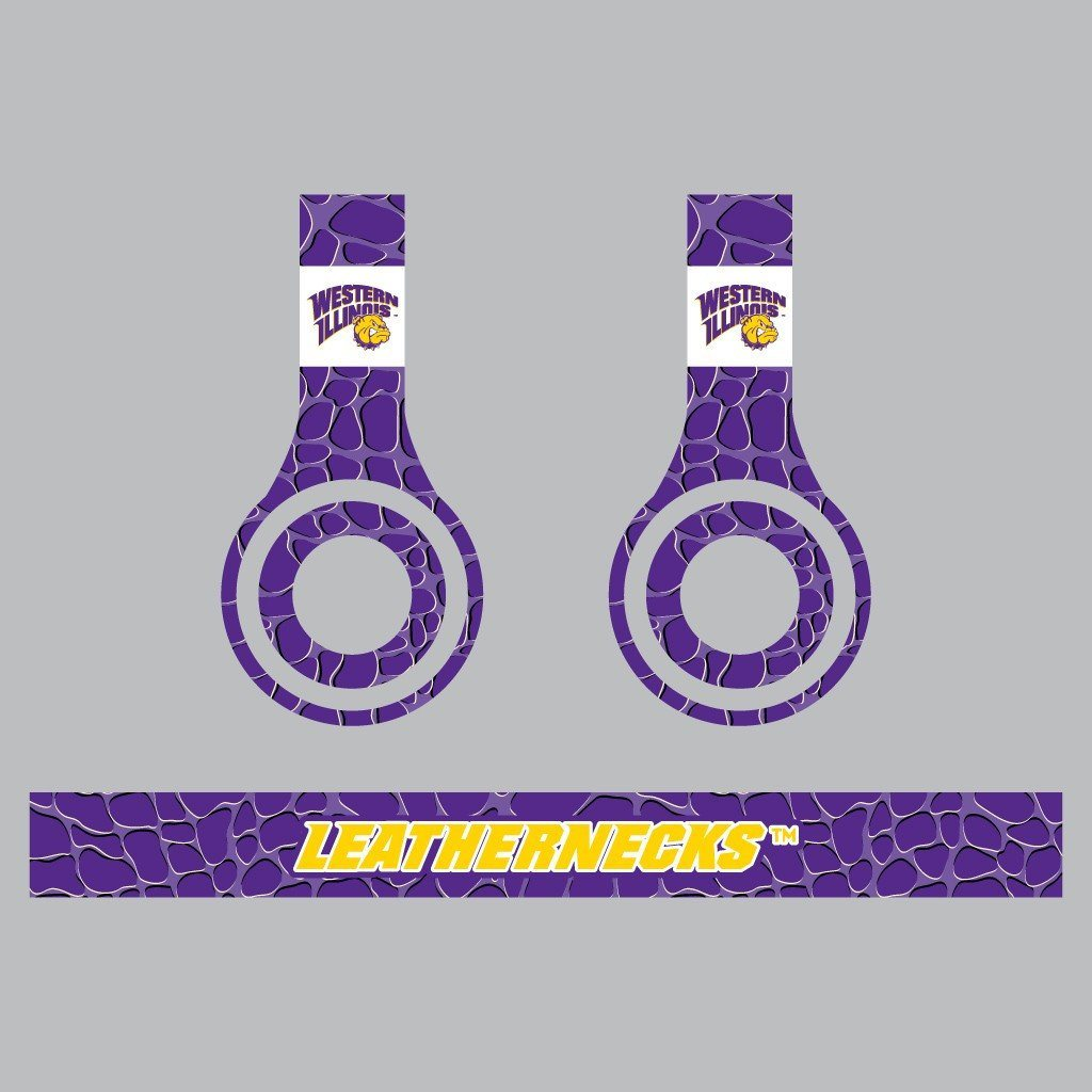 "Western Illinois Skins for Beats Solo HD Headphones "" Set of 3 Animal"