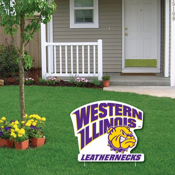 A Western Illinois University Yard Sign