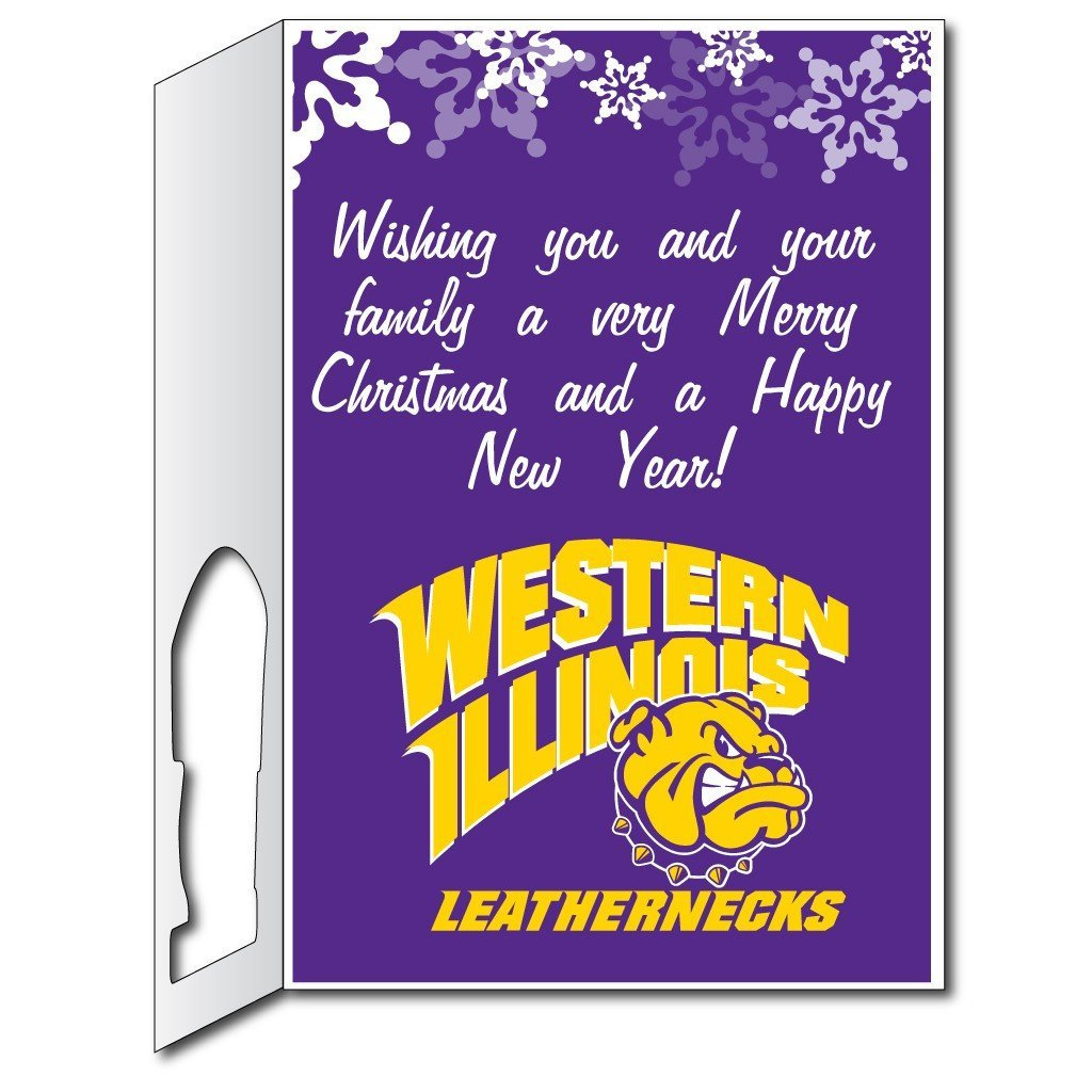 Western Illinois University 2'x3' Giant Christmas Greeting Card, includes a Yard Sign!  - Stock Design