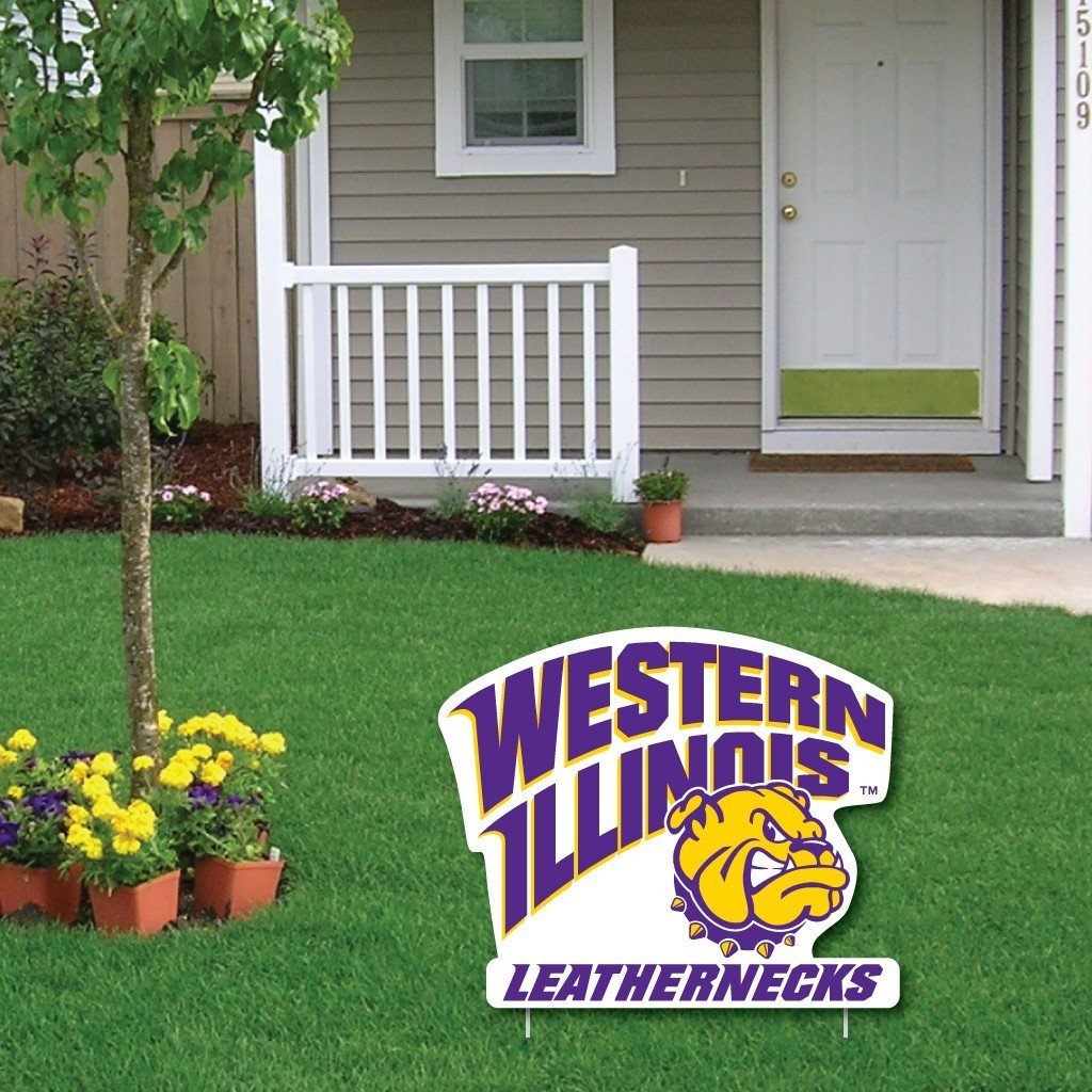 Western Illinois University 2'x3' Giant Christmas Greeting Card, includes a Yard Sign! FREE SHIPPING