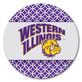 Western Illinois University Coaster Set - Patterned Design - Set of 4
