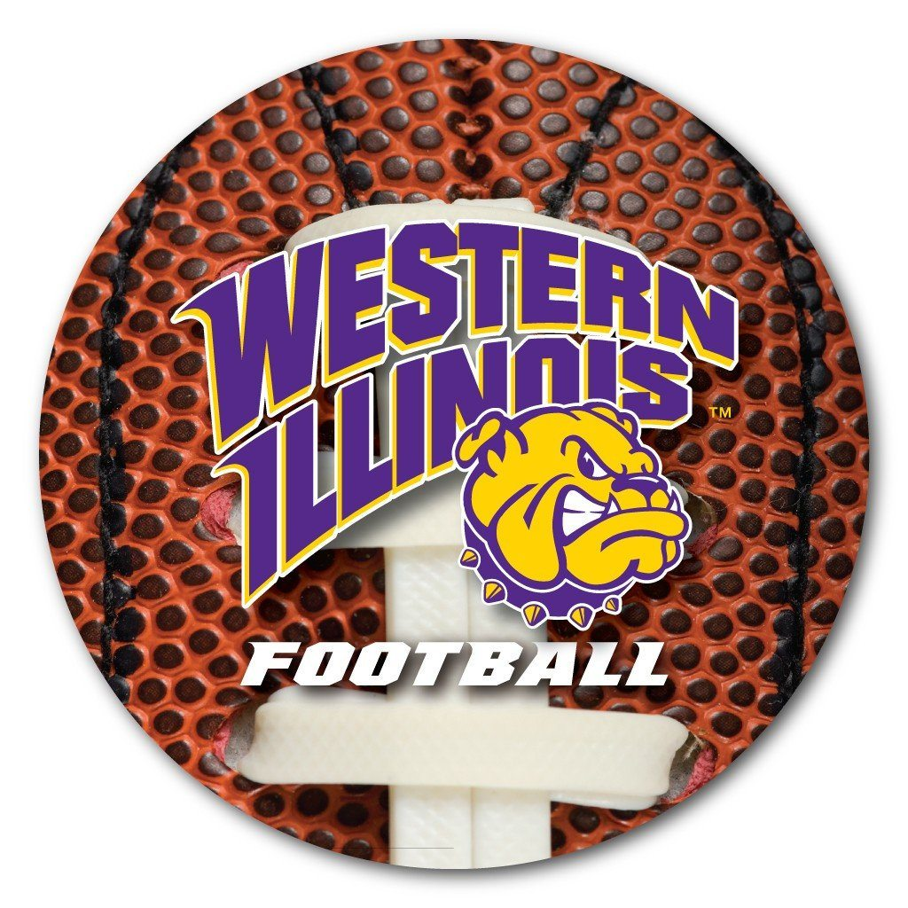 Western Illinois University Football Coaster Set of 4 - FREE SHIPPING