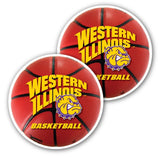 Western Illinois University - Window Decal (Set of 2) - Basketball