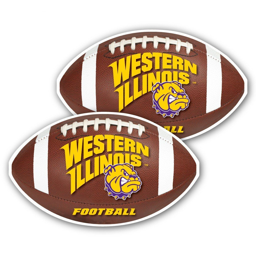 Western Illinois University - Window Decal (Set of 2) - Football