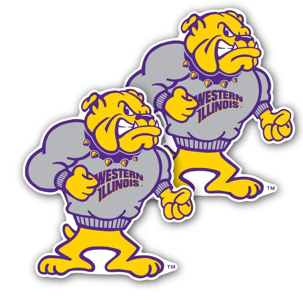 Western Illinois University - Window Decal (Set of 2) - Bulldog