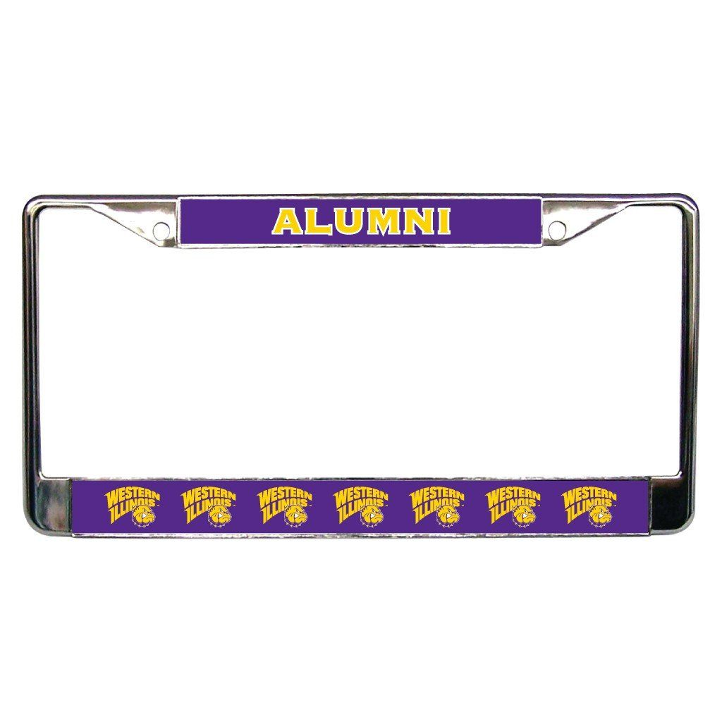 Western Illinois University Alumni License Plate Frame FREE SHIPPING