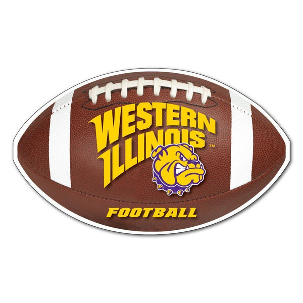 "Western Illinois "" Football Shaped Magnet"