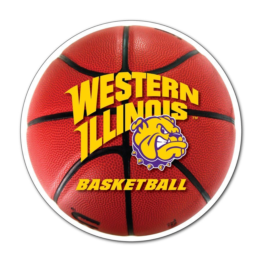 Western Illinois - Basketball Shaped Magnet