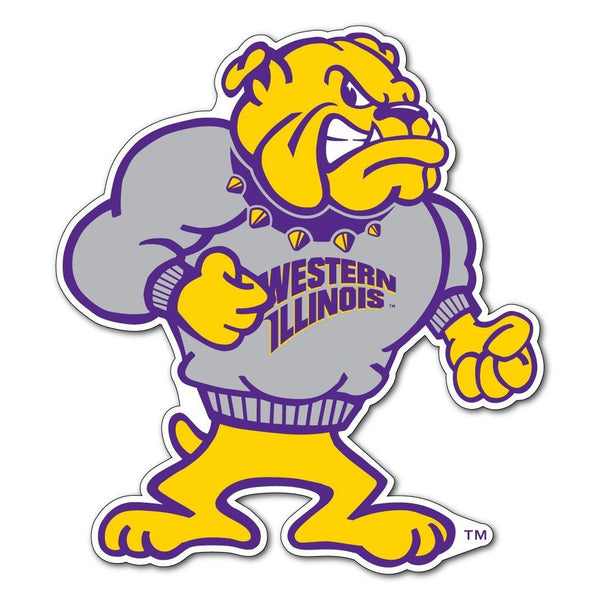"Western Illinois "" Rockey Shaped Magnet"