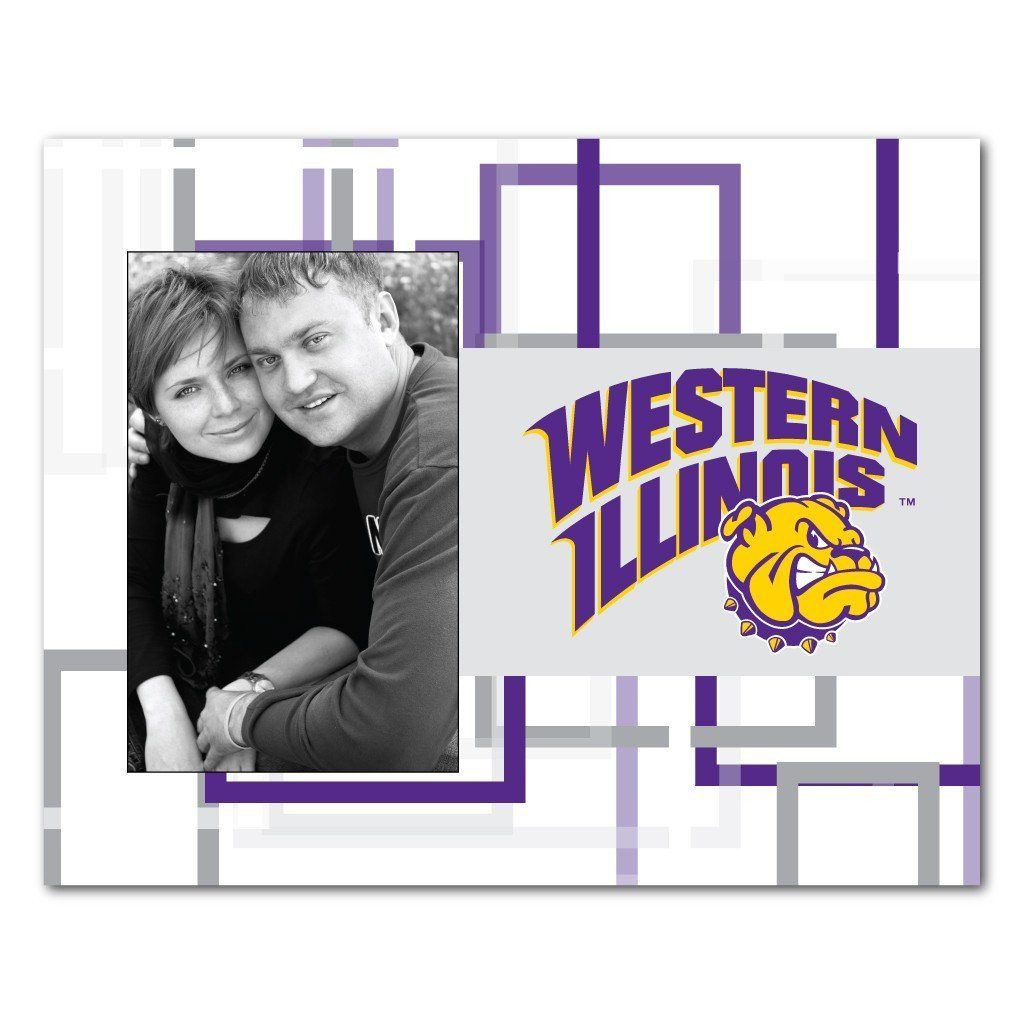 "Western Illinois University Picture Frame "" Squares Design"