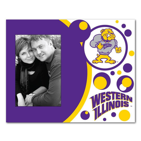 "Western Illinois University Picture Frame "" Circles Design"