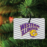 Western Illinois University Ornament - Set of 3 Rectangle Shapes