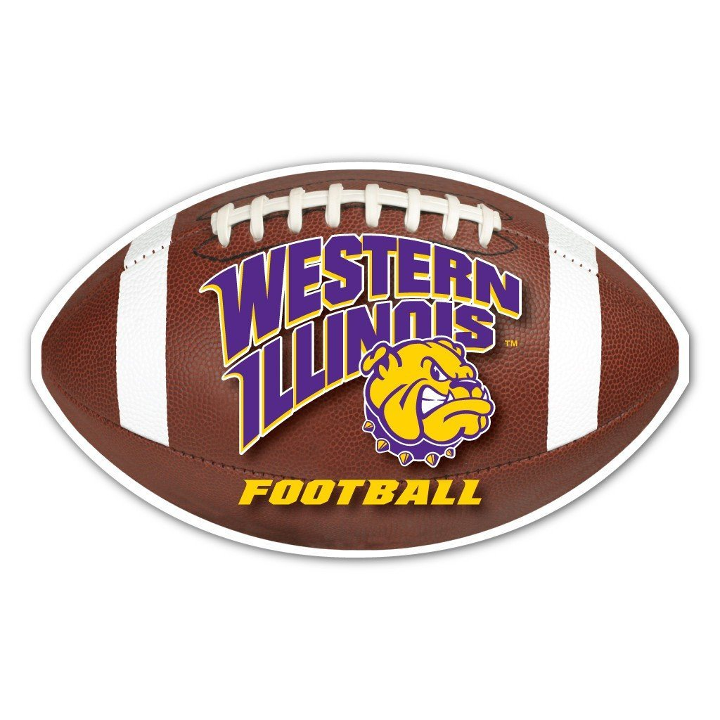 Western Illinois University Football Shaped Plastic Yard Sign w/
