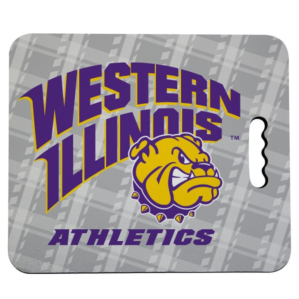 Western Illinois University Stadium Seat Cushion - Plaid Design