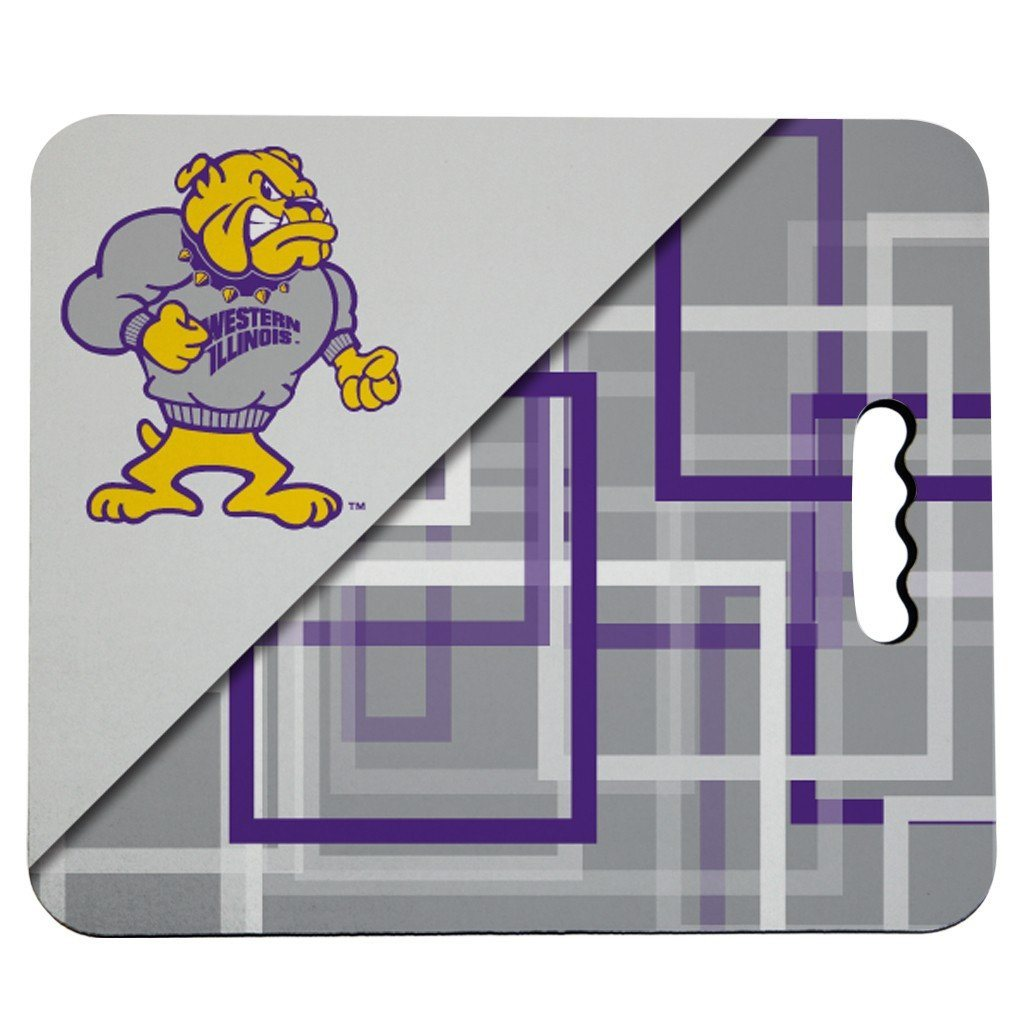 Western Illinois University Stadium Seat Cushion - Squares Design