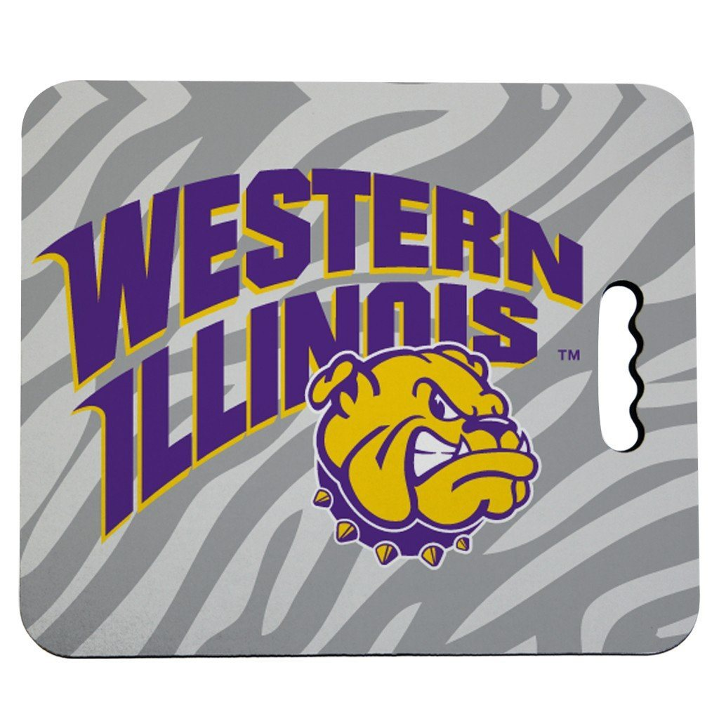 Western Illinois University Stadium Seat Cushion - Zebra Print Design