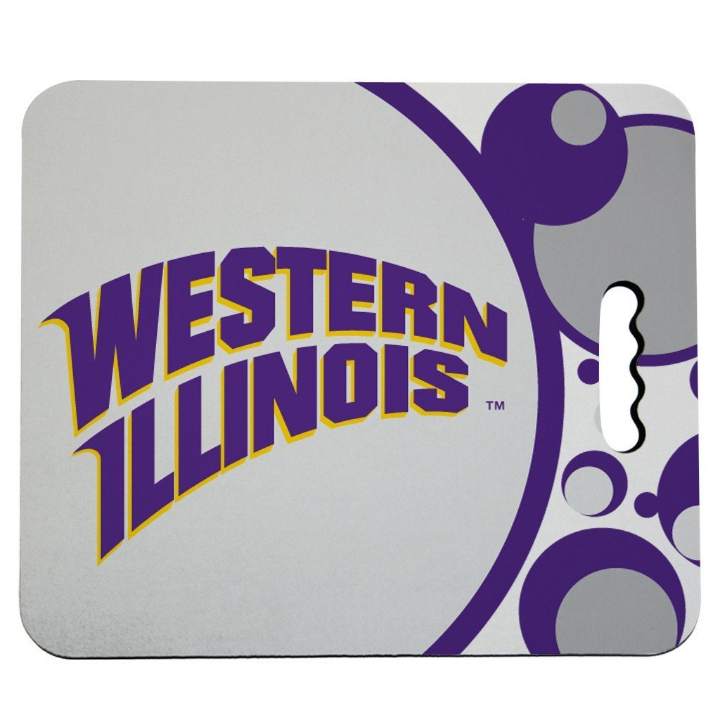 Western Illinois University Stadium Seat Cushion - Circles Design