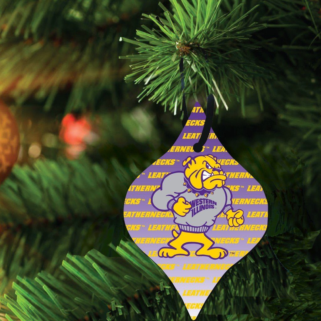 Western Illinois University Ornament Set of 3 Shapes - FREE SHIPPING
