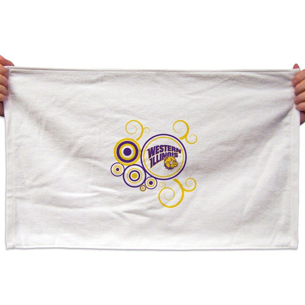 Western Illinois University Rally Towel (Set of 3) - Swirl Design