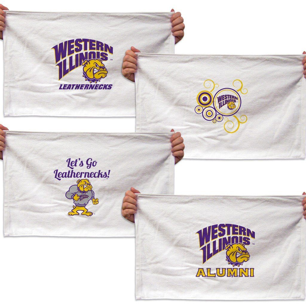 Western Illinois University Rally Towel - Set of 4 Designs