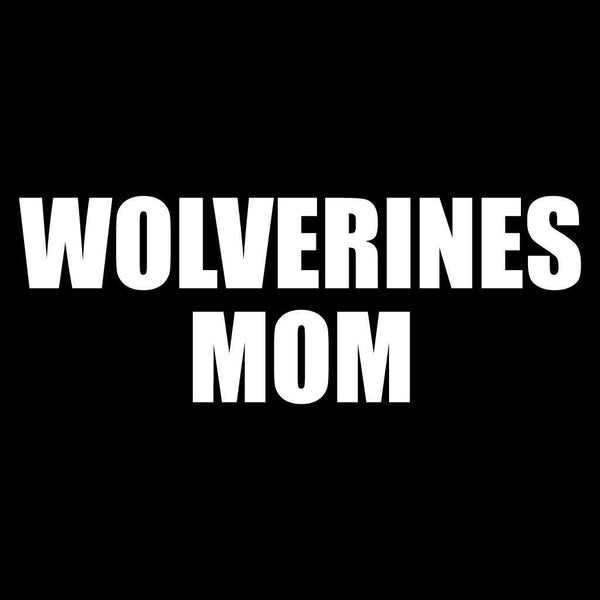 Wolverines Mom Black Folding Camping Chair with Carry Bag