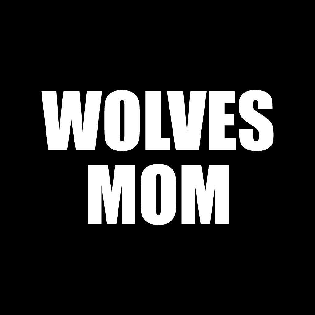 Wolves Mom Black Folding Camping Chair with Carry Bag