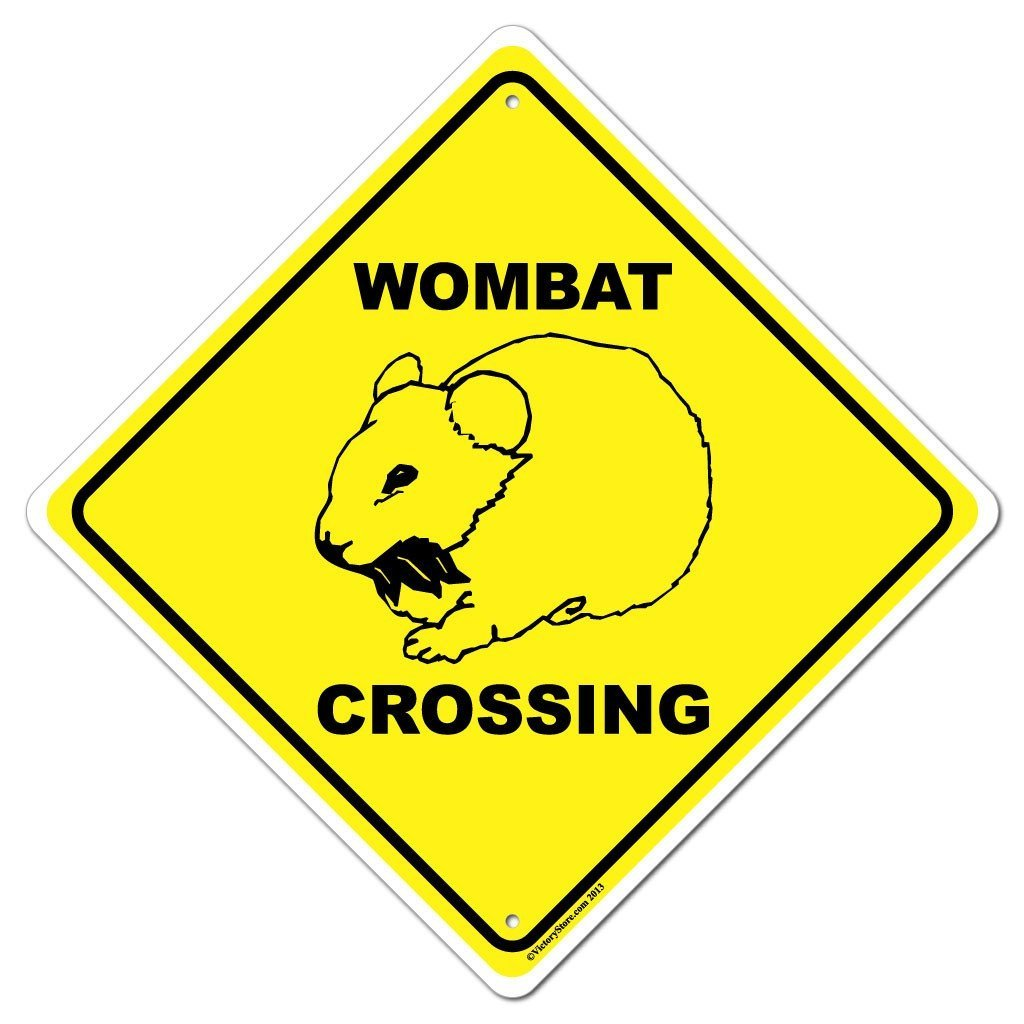 Wombat Crossing Sign or Sticker