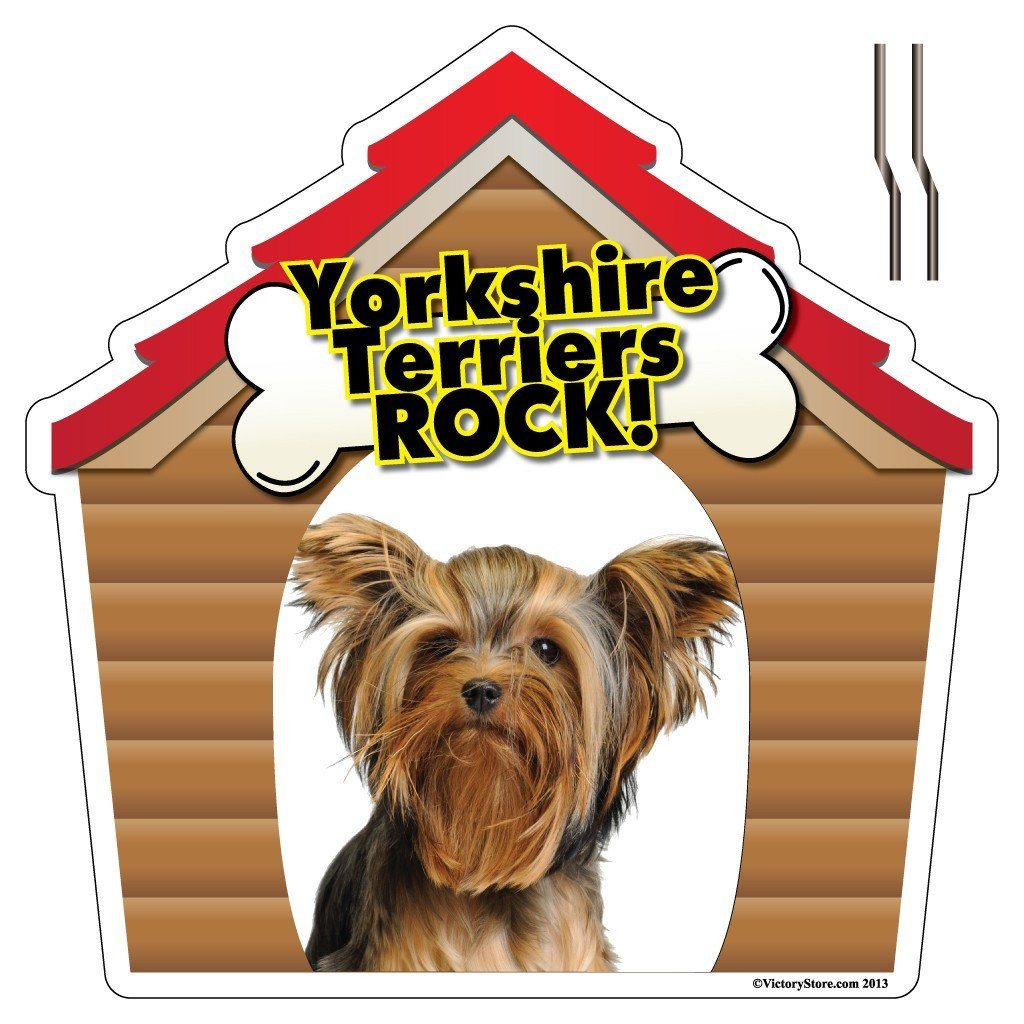 Yorkshire Terriers Rock! Dog Breed Yard Sign - Shaped Yard Sign w/ 2