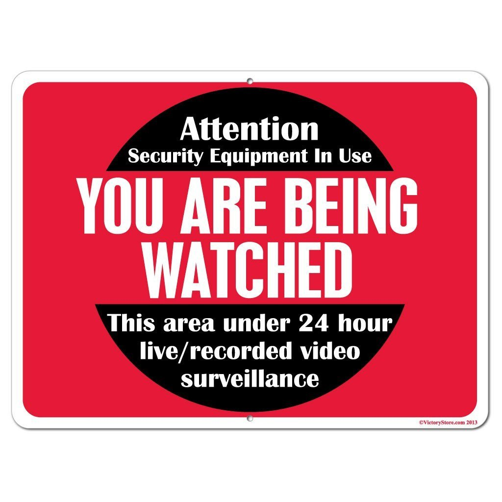 You Are Being Watched Security Surveillance Sign or Sticker - #3