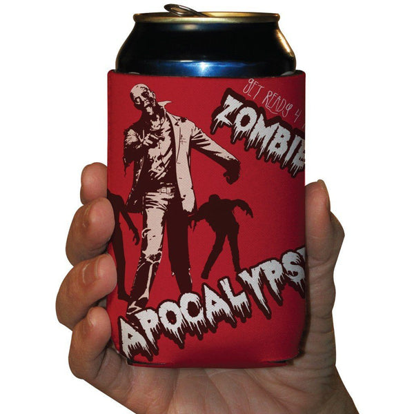 Zombie Apocalypse Halloween Can Cooler Set of 6