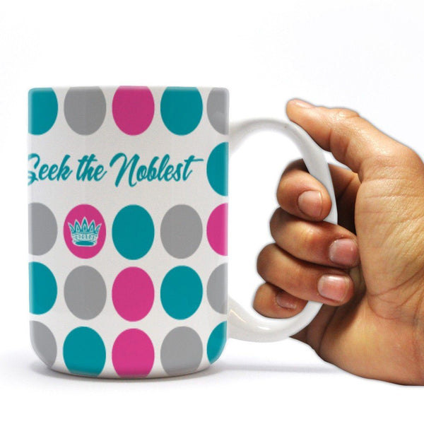 Zeta Tau Alpha 15oz Coffee Mug Polka Dot Design