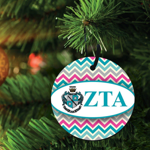 Zeta Tau Alpha Ornament - Set of 3 Circle Shapes
