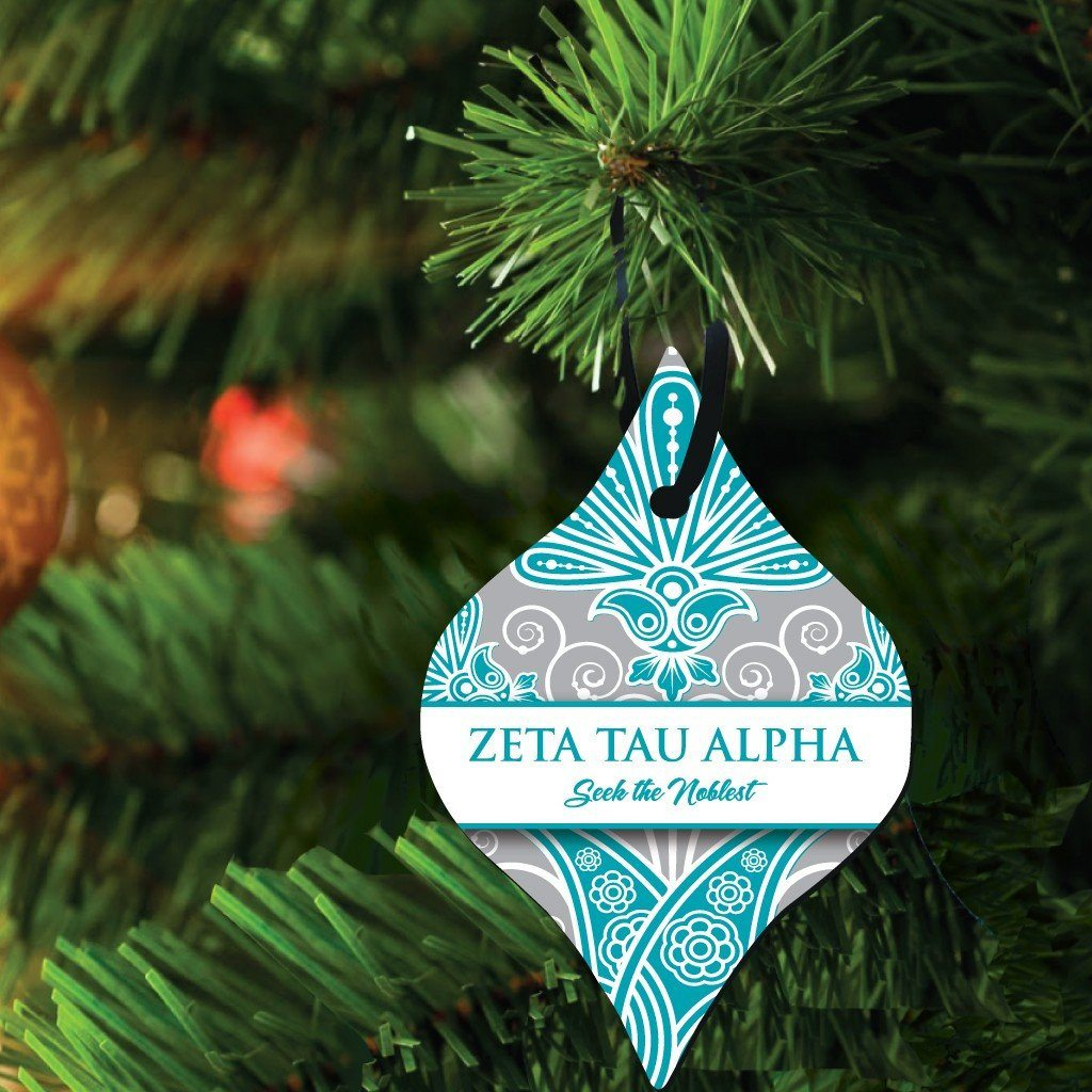 Zeta Tau Alpha Ornament - Set of 3 Tapered Shapes