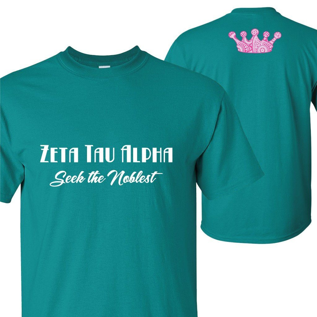 "Zeta Tau Alpha ""Seek the Noblest"" T-Shirt - FREE SHIPPING"